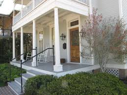 glorious front porch columns with limestone steps exterior