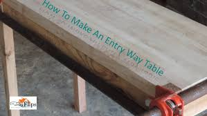Wood Entry Table How To Make A Pallet Wood Entry Way Table For Free
