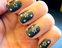 skorchcake nail polish fanatic star nail art using konad
