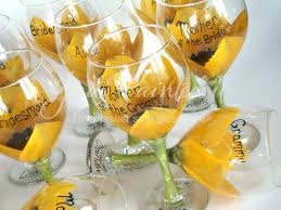 Sunflower Decorations Luxury Wedding Wine Glass Decorating Ideas Iawa