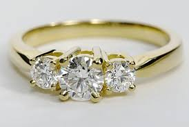 gold diamond engagement rings yellow gold three diamond engagement ring engagement ring wall