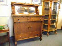 tiger oak buffet with mirror and shelf antique empire tiger oak