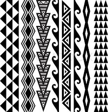 collection of 25 black n white hawaiian tribal design