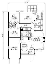 traditional style house plan 3 beds 2 00 baths 1169 sq ft plan