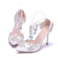 wedding shoes bridal sandals woman wedding shoes high heels party