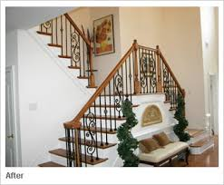 Banister Rail And Spindles Iron Balusters Custom Staircases And Wrought Iron Spindles By