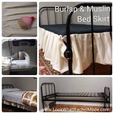 Burlap Bed Skirt Look What Rachel Made Muslin And Burlap Bed Skirts