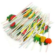 50pcs colorful creative 3d fruit hawaiian theme summer party