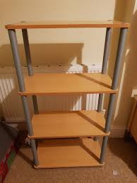 Silver Bookcase Beech Effect And Silver Bookcase Shelving In Bournemouth