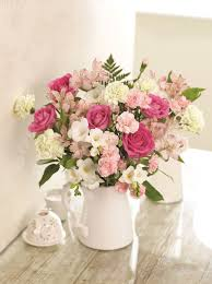 pink bouquet florists choice mixed bouquet pink rainbow flowers gifting