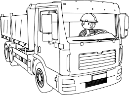 bob the builder driving truck coloring page wecoloringpage