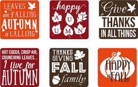 thanksgiving decals of 6 vinyl decal stickers for glass blocks thanksgiving fall gift