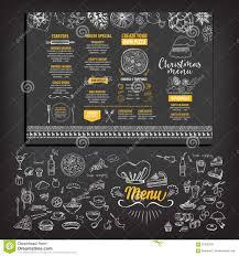 christmas party invitation restaurant food flyer stock vector