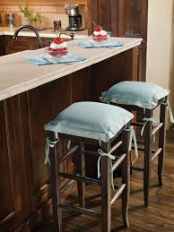 High Top Bar Stools Bar Stools Brown Marble Countertop And Backsplash Black Leather