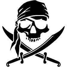 amazon com pirate skull crossed swords jolly roger vinyl decal