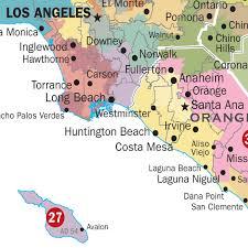 california map of major cities ca political maps