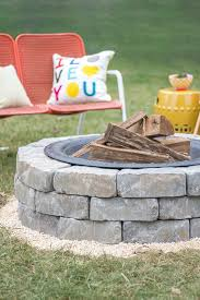 How To Make Fire Pits - how to build a fire pit with landscape wall stones ehow