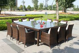Patio Table With Chairs Dining Table All Weather Wicker Dining Table And Chairs Rattan