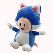 pudcoco blue mushroom baby 3d cartoon cat blue mushroom toad