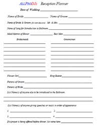 wedding reception planner wedding planner forms pittsburgh s party dj and wedding dj bob
