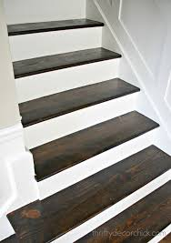 Wicked Laminate Flooring Wood And White Stair Makeover From Thrifty Decor