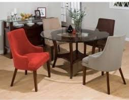 Round Glass Table And Chairs 42 Round Glass Top Dining Table Sets Foter