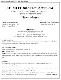 Halloween Poem Short Fright Write Short Story Poem And Art Contest Sept 19 To Oct 9