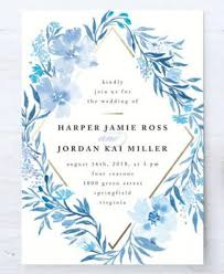 Customizable Wedding Invitations Poetic Blue