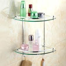 smart glass corner shelves bathroom aluminum 3 tier glass shelf