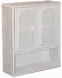 Bathroom Wall Medicine Cabinets Amazon Com White Wicker Bathroom Wall Medicine Cabinet Home