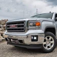 led lights for 2014 gmc sierra 2014 2016 gmc sierra 1500 oem style clear led fog lights kit