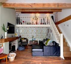 designer mortgage free after transforming disused garages the large living area made look even more spacious thanks high