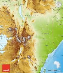 geographical map of kenya physical map of kenya