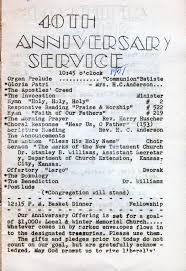 first evangelical united brethren church 1951 40 year