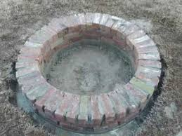 How To Build A Cheap Patio How To Build A Sturdy Brick Fire Pit Part 2 Youtube