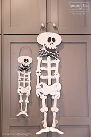 large and small mr funny bones wooden skeletons halloween