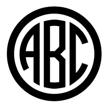 monogram stickers monogram decal monogram sticker 3 letter circle