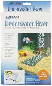 underwater river with air medium aquarium