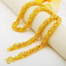 gold filled chain necklace images Hip hop mens jewelry yellow gold filled chain necklace dragon jpg
