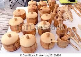 ustensiles de cuisine en bois bois mortier sucre ustensile bassin épice cuisine photo de