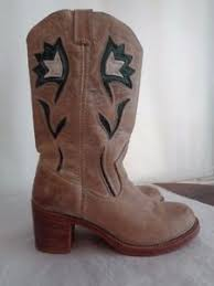 s frye boots size 9 frye 100 nubuck leather cowboy boots s size 9 1 2 b