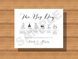 wedding itinerary for guests printable wedding day itinerary card wedding day timeline