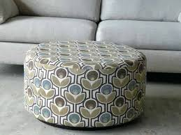 Round Cocktail Ottoman Upholstered by Ottoman Round Fabric Upholstered Ottoman Custom Ottoman Round