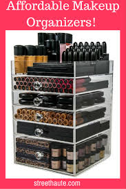 acrylic makeup organizers affordable street haute