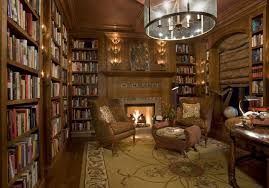 home library design with fireplace best room library modern home