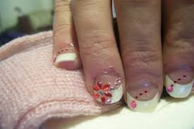 french nails with designs how you can do it at home pictures
