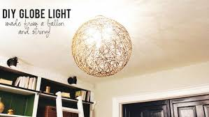 Diy Light Fixtures Diy String Globe Light Fixture Knock It The Live Well Network