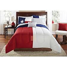 Twin Extra Long Bed Amazon Com Mainstays Texas Star Bed In A Bag Coordinated Bedding