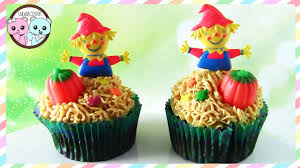 scarecrow cupcakes halloween cupcakes by sugarcoder youtube