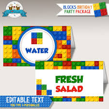 colorful building block birthday party welcome sign printable pdf